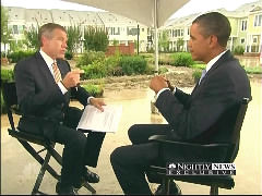 2d500bab10sObama.jpg Brian Williams Treats Obama as Oracle of Wisdom, Wonders: 'How Are You Thinking About Your Job These Days?'