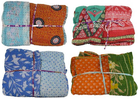 eeeb0c55a8quilts.jpg Fair Trade Repurposed Cotton Sari Quilts From Pure Habitat