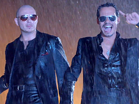 7949a9701181x211.jpg Pitbull, Marc Anthony Brave Heat In Rain Over Me Video